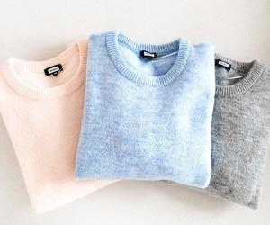fashion, sweater, and grey image