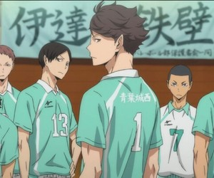 haikyuu, anime, and aobajosai image