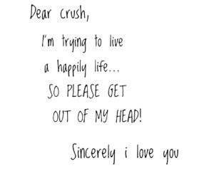 black and white, crush, and I Love You image