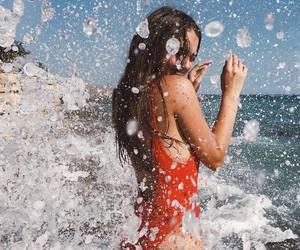 beach, fashion, and smile image