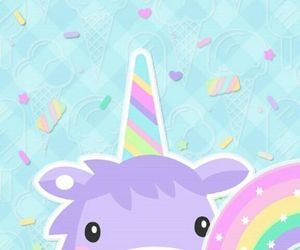 unicorn, candy, and colorful image