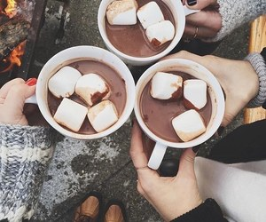 autumn, chocolate, and drink image