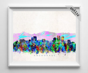 etsy, home decor, and watercolor image