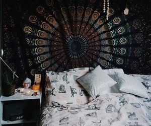 boho, grunge, and bedroom image