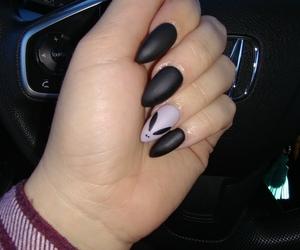 autumn, black nails, and Greys image