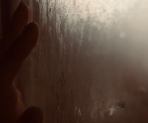 dark, fingers, and fog image