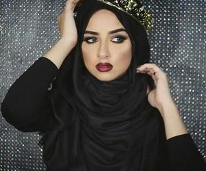 hijab, black, and islam image