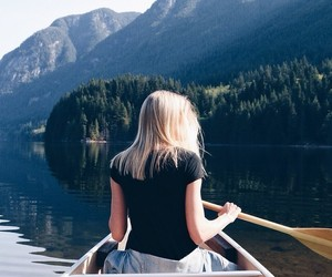 adventure, blonde, and boat image