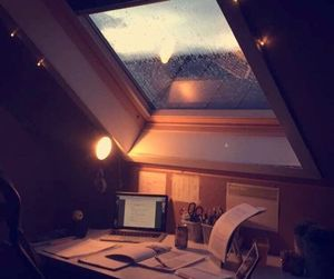 rain, home, and study image