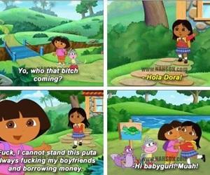 funny, Dora, and fake image