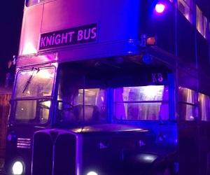 purple, bus, and theme image