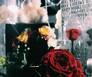 birthday, flowers, and roses image
