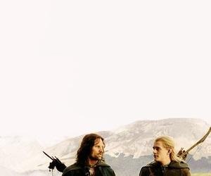 Legolas, aragorn, and LOTR image