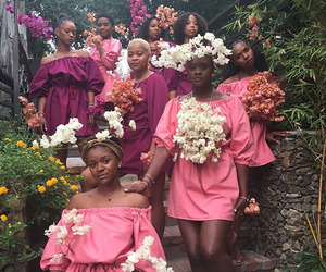 feminism, flowers, and garden image