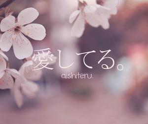 aishiteru, japan, and japanese image