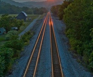 abandoned, rural, and train tracks image