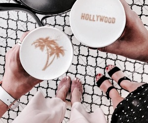coffee, fashion, and hollywood image