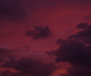 red, sky, and theme image