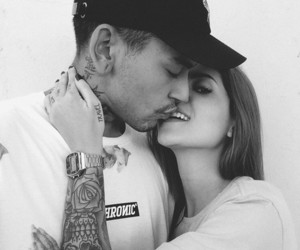 black and white, kiss, and lovely image