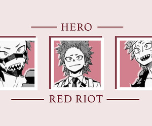 kirishima, mha, and red riot image