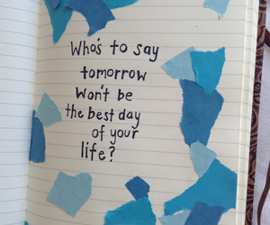 blue, quotes, and indie image