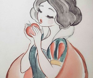 dibujos, manzana, and blancanieves image