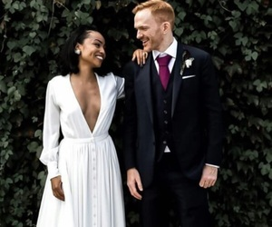 couples, interracial, and marriage image