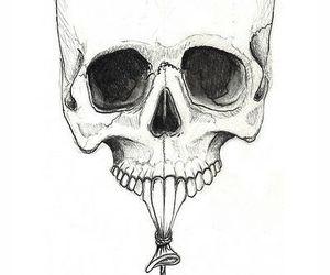 skull, balloon, and art image