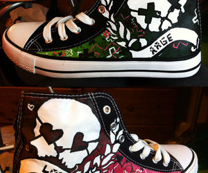 custom shoes, custom converse, and anime shoes image