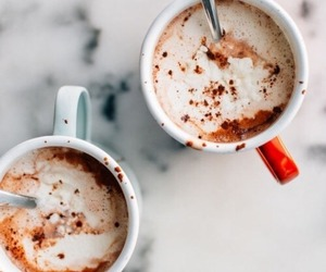 chocolate, drinks, and winter image