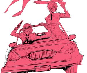anime, cars, and double black image