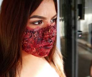 Halloween, sangre, and makeupartist image