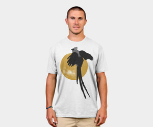 bird, moon, and clothing image