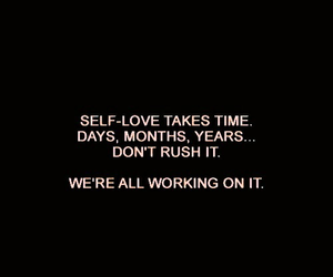 quotes, self love, and black image