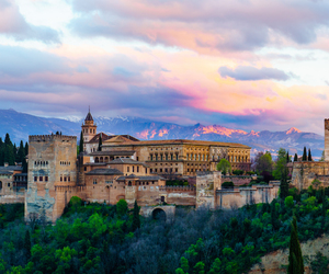 Alhambra, architecture, and landscape image