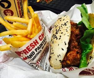 burger, Chicken, and Pepsi image