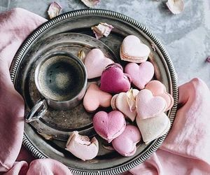 heart, coffee, and macaroons image