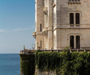 castle, italy, and miramare image