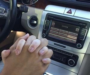 car, couple, and radio image