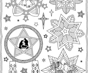 christmas, lantern, and coloringpages image