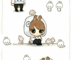bts, bunny, and chibi image
