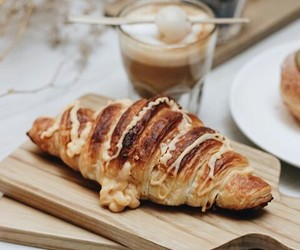 coffee, breads, and food image