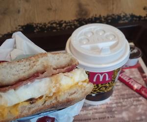 breakfast, coffee, and McDonald's image