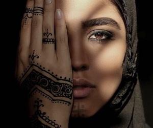 beautiful, girl, and henna image