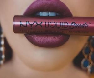 lip gloss, NYX, and lips image