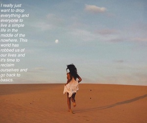 desert, girl, and life image