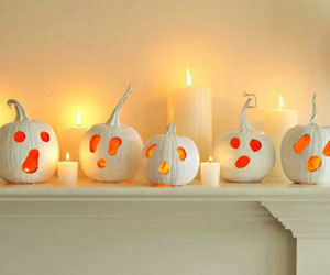 candles and pumpkin image