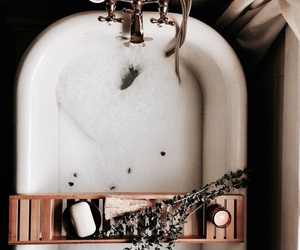 bath, bathroom, and relax image
