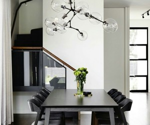 decor, decoration, and dinner room image