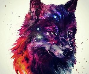 wolf, art, and colors image